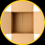 Boîte en carton ouverte