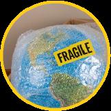 Article emballé dans un emballage d'expédition fragile