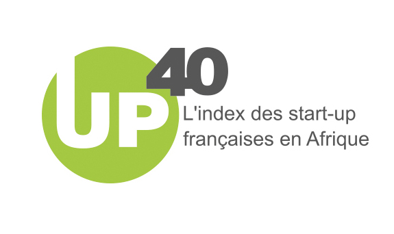 Logo UP 40 - L'index des start-up françaises en Afrique