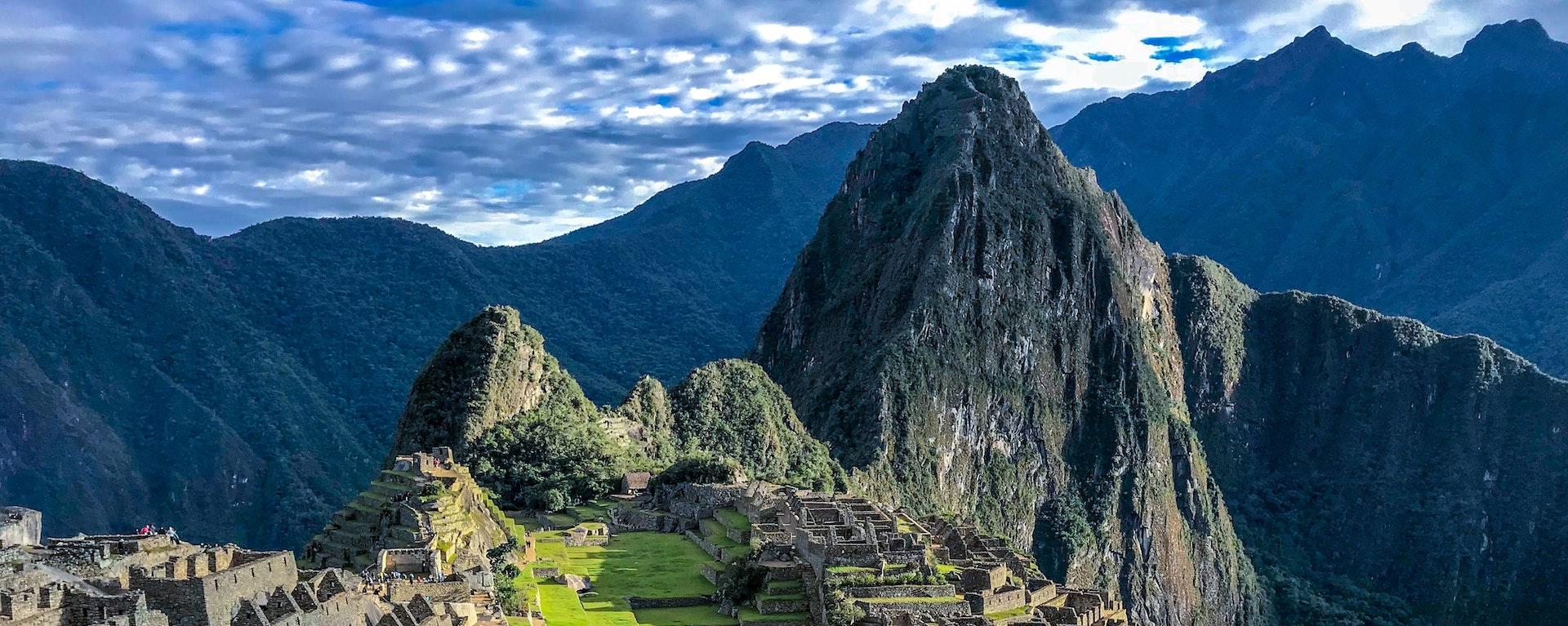 Paysage d'une vallée en Amérique du sud